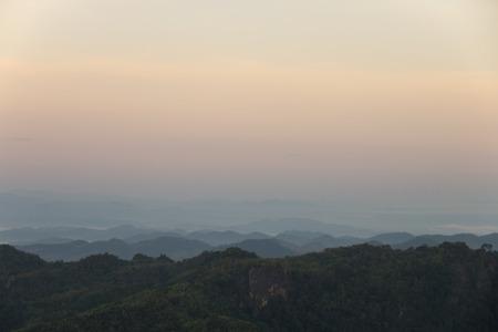 beautiful scene, mountain view sunrise in the morning.