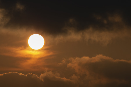 sun with clouds in evening time Stockfoto - 119505165