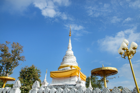 Wat Phra That Khao Noi an iconic famous temple in Nan the Northern province in the Northern Thailand. Stockfoto - 119505244