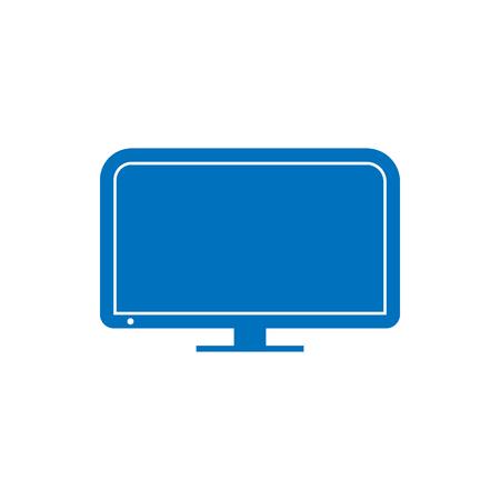 motior lcd display on white background, vector illustration.