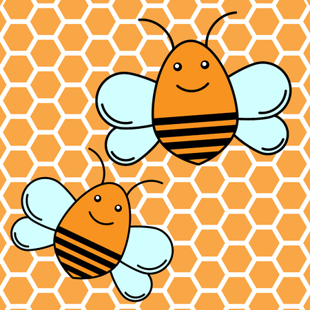 Bee icon. Flat design. vector illustration. Stockfoto - 120781839