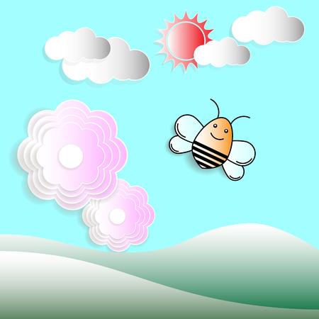 nature landscape background. vector illustration. Stock Illustratie