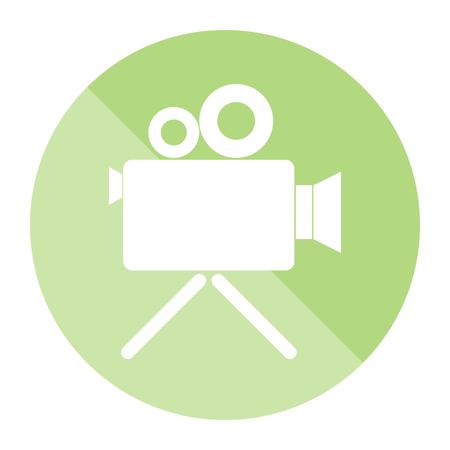 Cinema camera icon. vector illustration.
