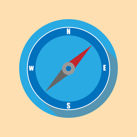 Compass icon. Flat design. vector illustration.