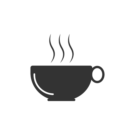 Coffee cup icon. vector illustration.
