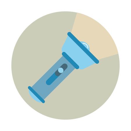 Flashlight icon. Flat design. vector illustration.