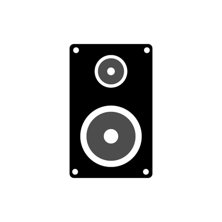 Speakers isolated on white background, vector illustration