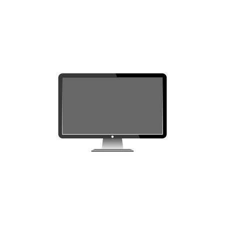 motior lcd display on white background,  vector illustration. Stockfoto - 120781967