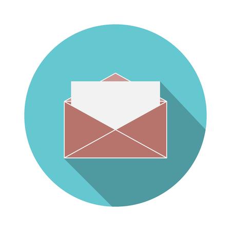 envelope icon for web. vector illustration. Stock Illustratie