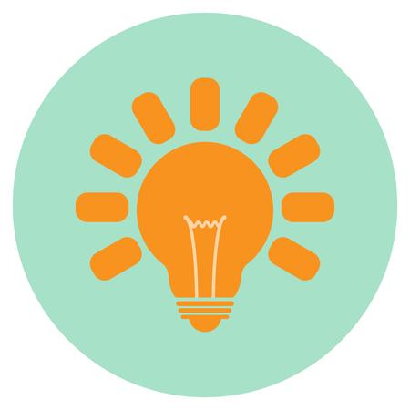 Lightbulb icon for web. Vector illustration.