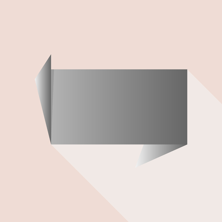 origami banners for web design, vector illustration.