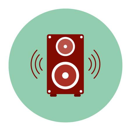 Speakers icon. vector illustration.