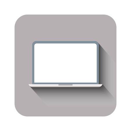 laptop icon flat design for web. Vector illustration
