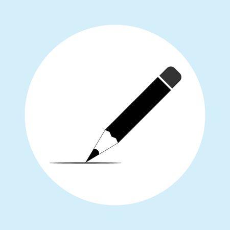 Pencil icon. Flat design. vector illustration. Illustration