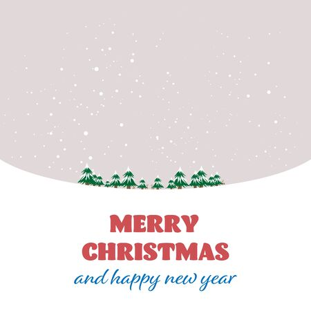 Merry Christmas and happy new year celebrations with winter background - Vector illustration.