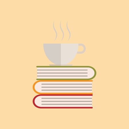 book with coffee cup icon design - vector illustration.