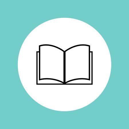 Book icon design - vector illustration. Ilustracja