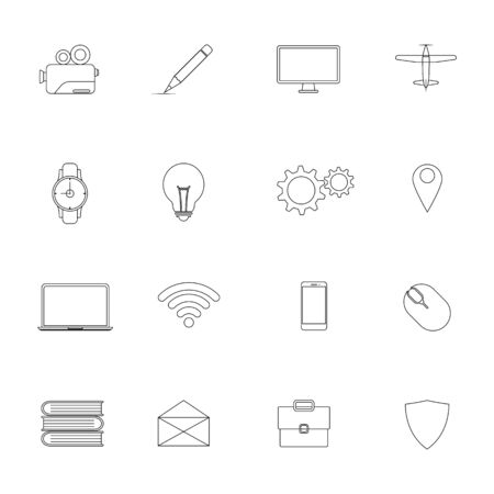 Modern lines icons design collection. vector illustration.