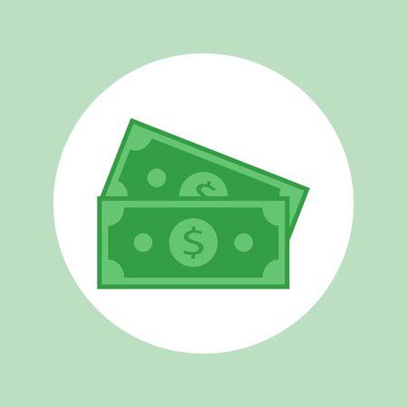 money icon flat design  - vector illustration Stock Illustratie