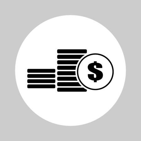 Coins, Money icon design - vector illustration.