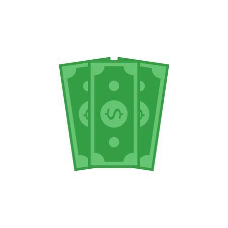 money icon flat design on white background  - vector illustration