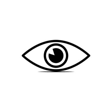 Eye icon flat design on blue background - vector illustration. Stock Illustratie