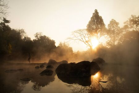 Hot Springs in chae son nation park, Lampang Thailand - Natural Mineral Water.