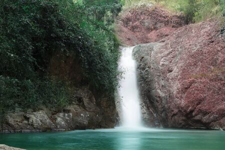 chae son waterfall at chae son nation park, Lampang Thailand - Beautiful waterfall landscape.