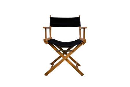Director chair isolated on white background Banque d'images