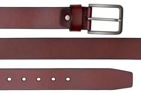 leather belt isolated on white background Foto de archivo