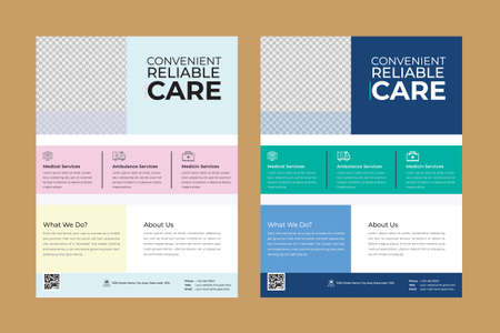 Features:  Easy to edit,Optimized for printing / 300 dpi, CMYK color mode, Letter size flyer template, 0.25 inch with bleed, 2 color variations. Help guide file incl Ilustracje wektorowe