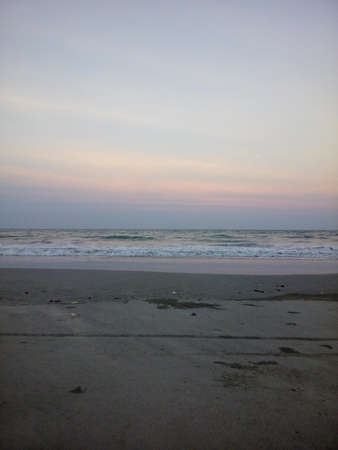 Horizon line during sunset