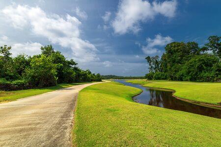 Landschaftsfotos von wunderbarem Panorama in Batam Bintan Indonesien Standard-Bild