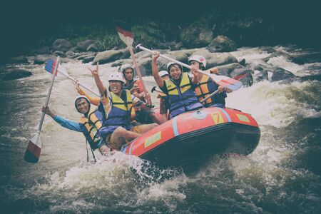 vocation: Vocation in magelang rafting with friend.