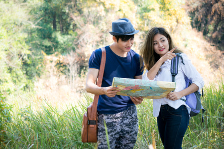 Travelers looking to map in national park