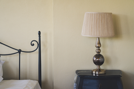 Vintage Lamp in bedroom for decoration 스톡 콘텐츠