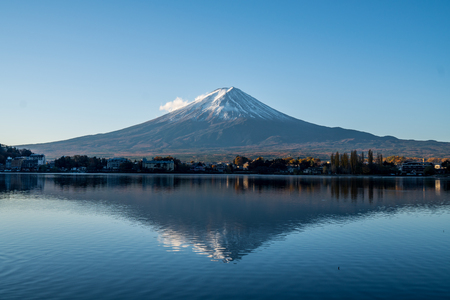 Fuji mountain landscape for background