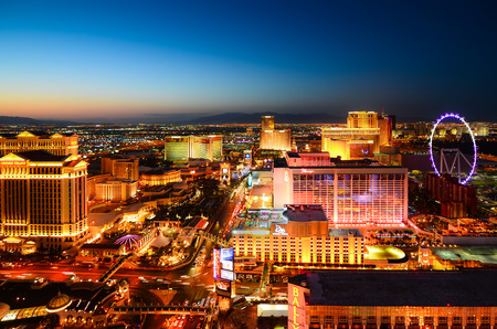 Las Vegas sunset view fron the top
