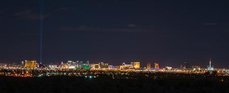 Panoramic skyline of Las Vegas where never sleep.