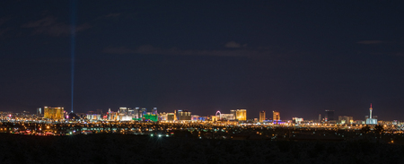 Panoramic skyline of Las Vegas where never sleep.