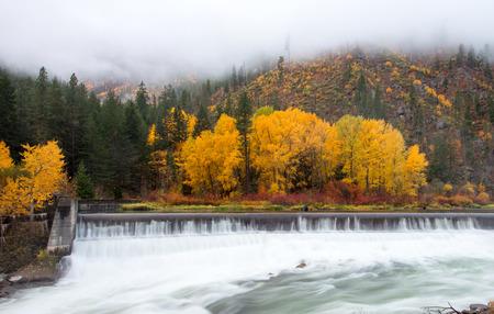 thru: Autumn in Leavenworth, Tumwater river flow thru Levenworth in perfect timing of the year