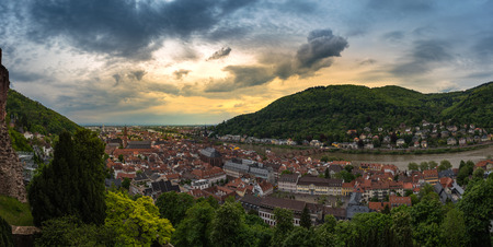 Sunset Heidelberg Panorama ,Baden, Germany Stock Photo