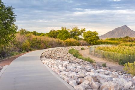 Sunset at Wetlands park in Las Vegas, Nevada 版權商用圖片