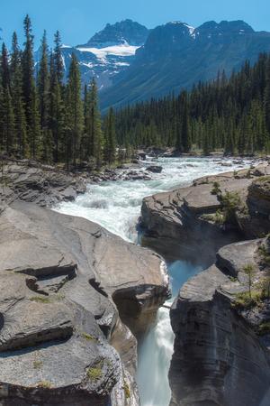 Mistaya Canyon in Summer sunny day ,Alberta, Canada.