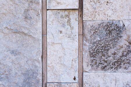 Rock rustic wall in block background texture 版權商用圖片