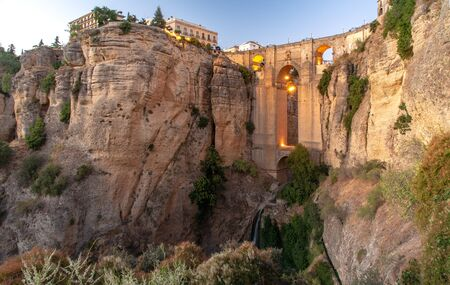 Travel sightseeing at Ronda, Ronda cliff vacation in Spain. 版權商用圖片