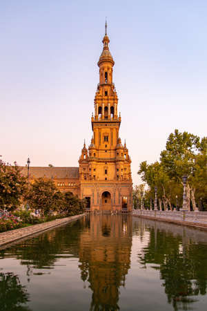 Travel sightseeing at Seville Palace in Spain. 新聞圖片