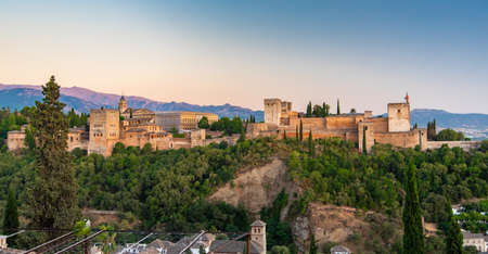 The Alhambra palace and fortress located in Granada, Andalusia, Spain.