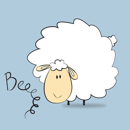 Vector illustration of a sheep