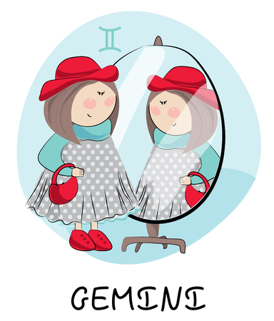 Gemini sign zodiac Illustration